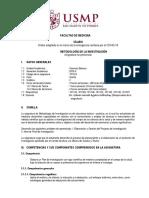 SILABO METODOLOGIA  2020-II