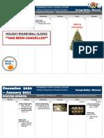 December 21 - January 4 Schedule