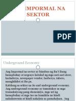 Ang Impormal Na Sektor by Portillo