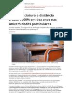 Ead Licenciatura a Distancia Cresce 1500 Em Dez Anos Nas Universidades Particularespdf