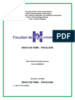 ITEMS DE PSICOLOGIA