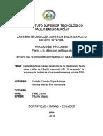 INSTITUTO SUPERIOR TECNOLÓGICO 1. TESIS FINAL ADRIANA Y EVA