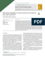 Multi-objective optimization of overhead transmission lines