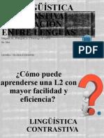 PRESENTACIÓN ARTÍCULO 'LA LINGÏÍSTICA CONTRASTIVA, LA RELACIÓN ENTRE LENGUAS'