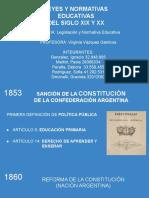 Leyes y normativas educativas S. XIX y XX