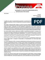 Nota De Prensa Licitaciones Infra