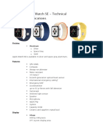 apple watch Specifications