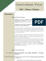 Curriculum vitae dott. Simona Sampirisi Biologa Nutrizionista e dott. in Scienze e Tecnologie Alimentari