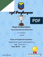 """Certificate for Nurain Raudah binti Mohd Fauzi for """"PENDIDIKAN ISLAM TAHUN EMPA..."""""""