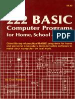 222 BASIC computer programs (1984)