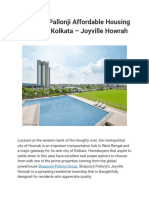 Shapoorji Pallonji Affordable Housing Project in Kolkata – Joyville Howrah