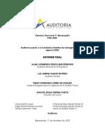 Informe Final Auditoria Exprés a la Contraloría de Cartagena