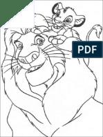 Dibujos El Rey Leon Para Colorear Mufasa y Simba