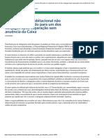 JURISPRUDENCIA ADVERTINDO SOBRE A NECESSIDADE DA ANUÊNCIA DA CAIXA PARA TRANSFERIR O IMÓVEL.pdf