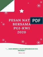 Pesan Natal Bersama PGI KWI 2020 Media