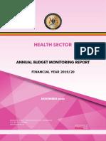 UGANDA Health Sector Annual Budget Monitoring Report FY2019 -2020