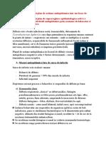 III.10,11 Elaborarea unui plan de actiune antiepidemica intr-un focar de difterie