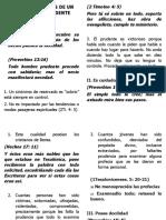 CARACTERISTICAS DE UN CRISTIANO PRUDENTE