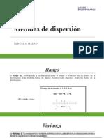 Apoyo guia 10 3° Medio ppt.  Med. de Dispersión