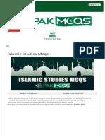 Islamic Studies Mcqs- Islamiat,Islamyat MCQs for preparation