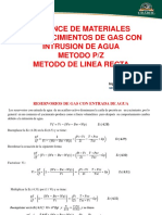 BALANCE DE MATERIALES PARA YACIMIENTOS DE GAS CON INTRUSION DE AGUA