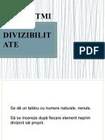 ALGORITMI DE DIVIZIBILITATE