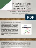 Física grado decimo-el movimiento (leyes de newtón