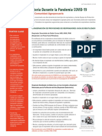 Protección Respiratoria Durante La Pandemia COVID-19, Buenas Prácticas Para La Comunidad Agropecuaria