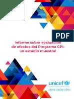 Informe sobre evaluación de efectos del Programa CPI