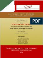 PORTAFOLIO  II UNIDAD POLITICAS Y LEGISLACIÓN