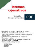 Sistemas Operativos 1 Unidad 2 Procesos e Hilos