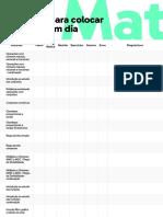 Checklist para colocar a matéria em dia - Matemática-mesclado