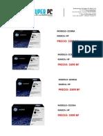 LISTADO DE TONERSS HP EN PROMOCION 07082013