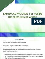 Salud Ocupacional y el Rol de los Serivicios de Apoyo
