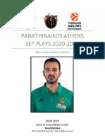 Panathinaikos Athens Playbook 2020-2021