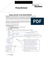 setup and daily use of school bulletin