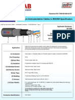 Onshore cable specification