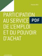 La participation au service de l'emploi et du pouvoir d'achat