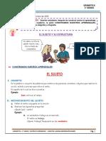 Hoja informativa  5° GRADO LA ORACIÓN