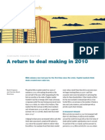 McKinseyQuarterly - A Return to Deal Making in 2010