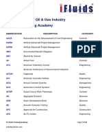 Abbreviations For O&G Industry