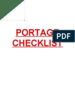 Portage Checklist