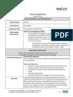 Lesson Plan Preparing Financial Statements