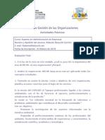 presentacion de actividades - Evaluacion Final - Modulo de Gestion de las Organizaciones