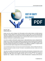 Cost of Equity in a Crisis_Blog by Rohan Advant