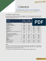 Jindal Saw - Q2 & H1 FY2019 Press Release