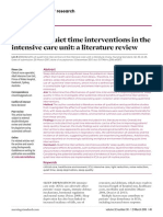 Lim R (2018) Benefits of quiet time interventions in the intensive care unit- a literature review. Nursing Standard. 32, 30, 41-48.