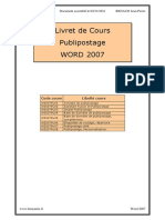 Word 2007 Publipostage