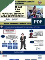 3_COMUNICACIÓN_ANALISIS DE LAS GUIÁS DE APRENDO EN CASA