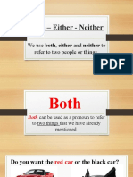 Both – Either - Neither